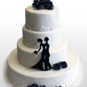 Hochzeitstorte Black&White